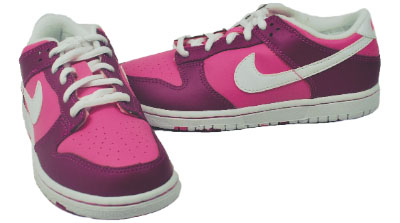 Details about Nike Youth Shoes China Rose/White-New Magenta Dunk Low
