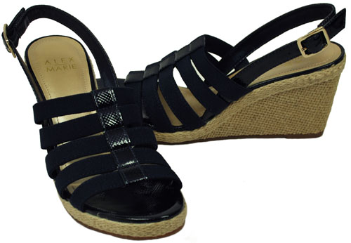 Alex Marie Women S Shoes Channel Navy Toucan Wedge Heel
