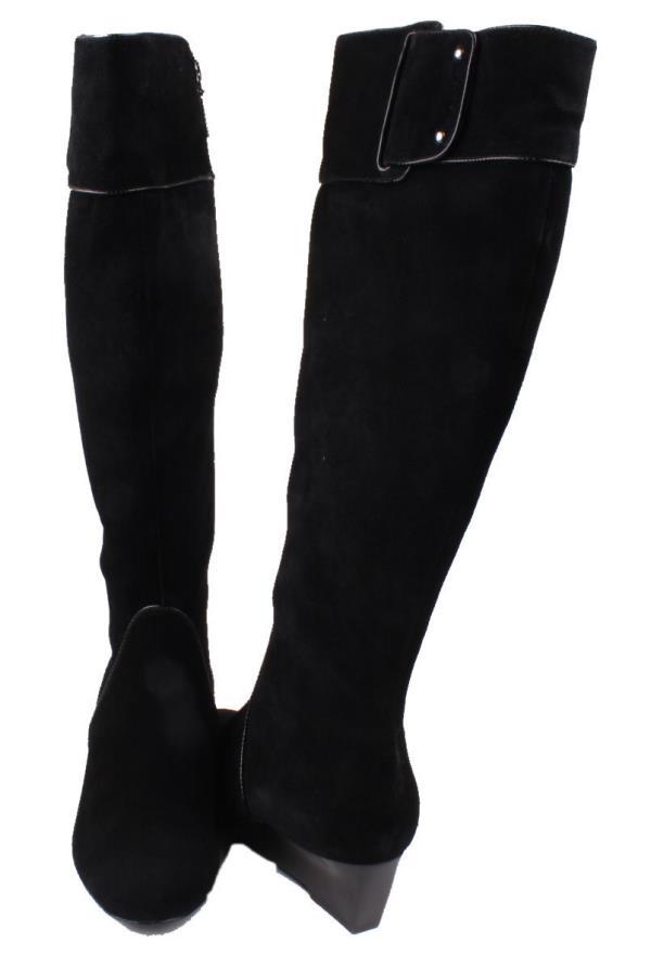 calvin klein helenah womens black suede knee high boots ebay