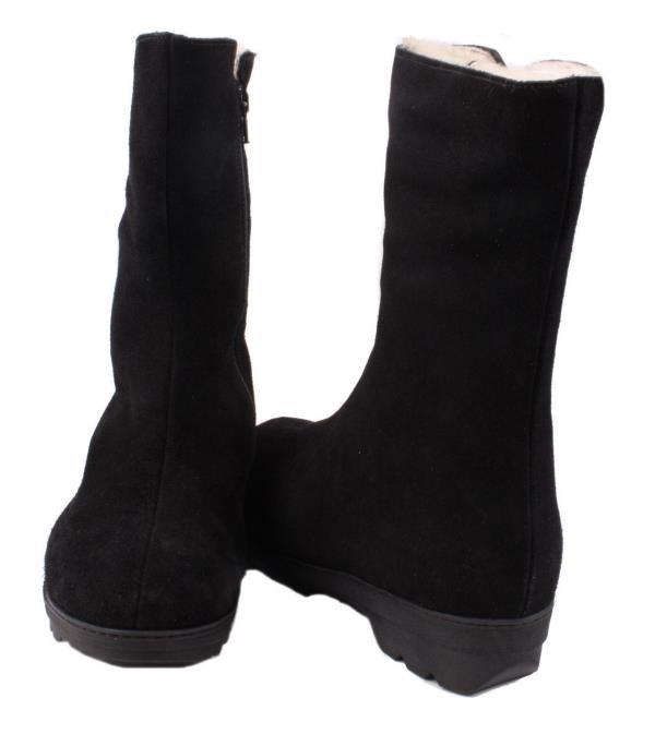 46e05e6ea9a La Canadienne Vogue Womens Black Waterproof Suede Leather Winter ...