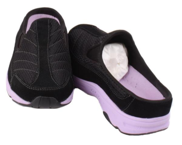 Hotracing Womens Black/Purple Suede Slip-On Walking Shoes Size 6