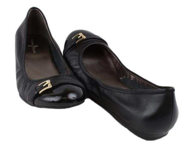 Cole Haan Tzivia Womens Size 10 Black Patent Leather Flats Shoes