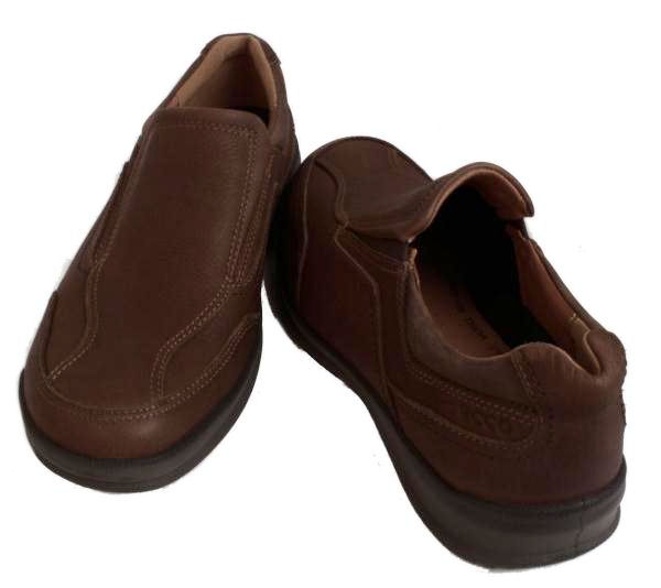 ecco-Remote-Mens-Bison-Cocoa-Brown-Leather-Slip-On-Shoes-Medium