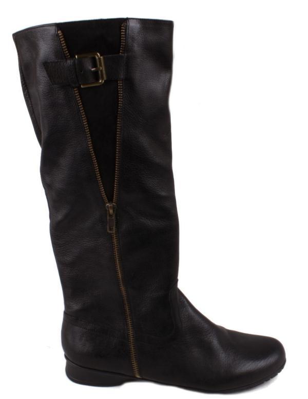 nine west tellmeallo womens black leather knee high flat