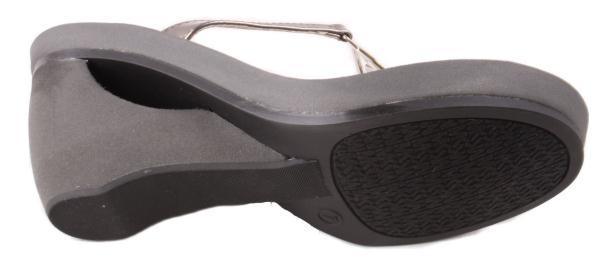 Michael by Michael Kors Warren Womens Gun Metal Mirror Thong Sandals