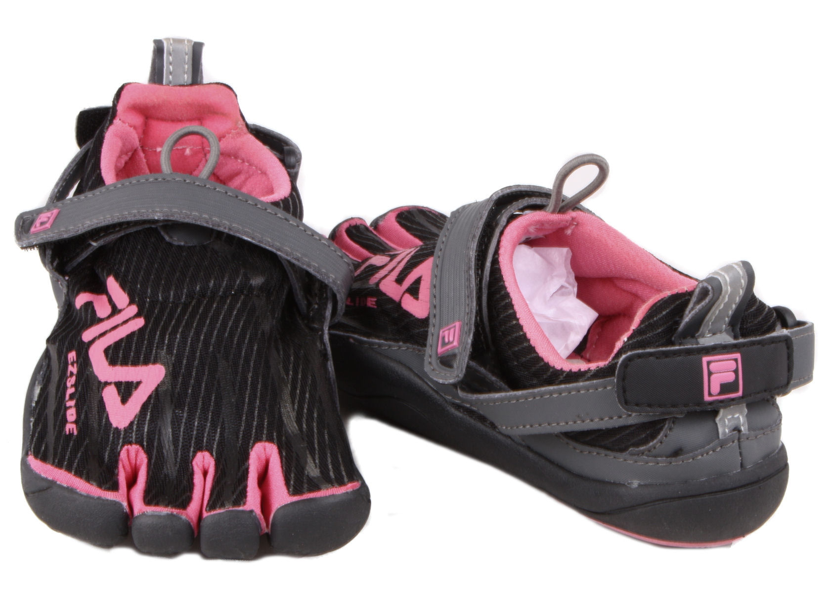 Fila Women's Skele-Toes EZ Slide Shoes - Grey/Purple - Polyvore