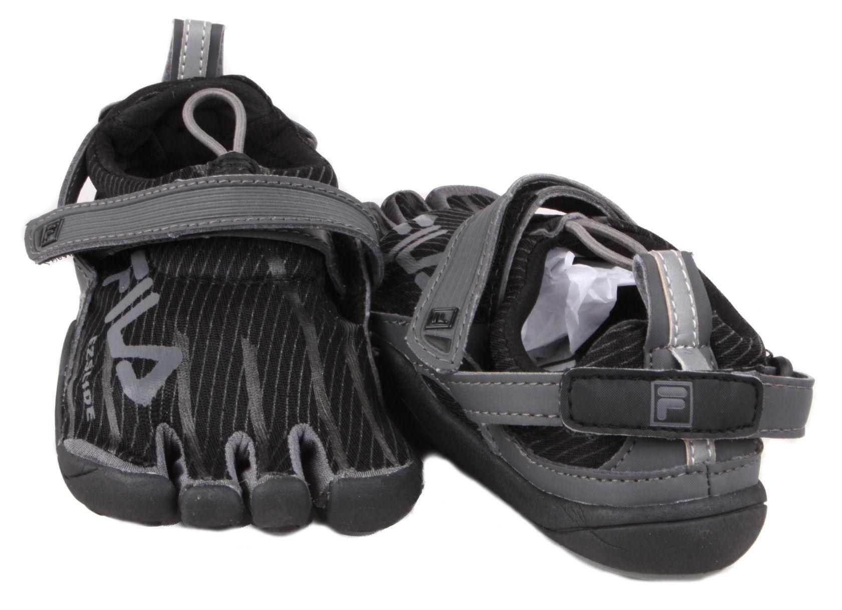 Women's Fila^ Skele-toes EZ Slide Shoes, Gray / Fuschia - 612928