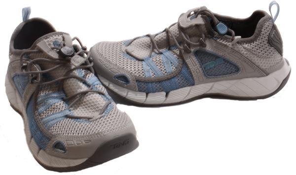 Teva-Churn-Womens-Grey-Blue-Outdoor-Water-Sneakers-Shoes-Medium-Width
