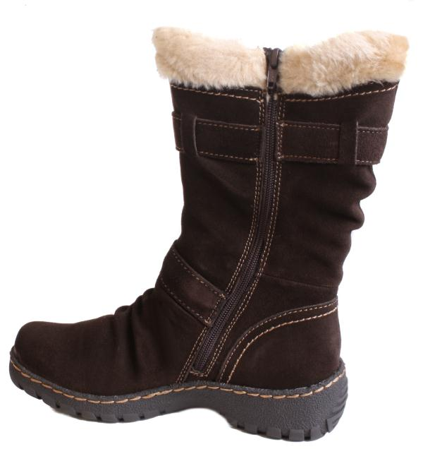 bare traps brandlee womens brown suede mid calf boots