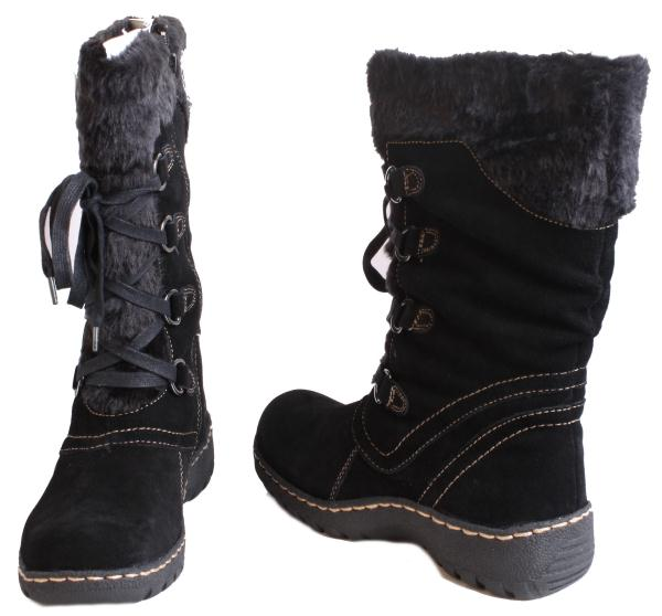 bare traps betheny all black suede womens mid calf