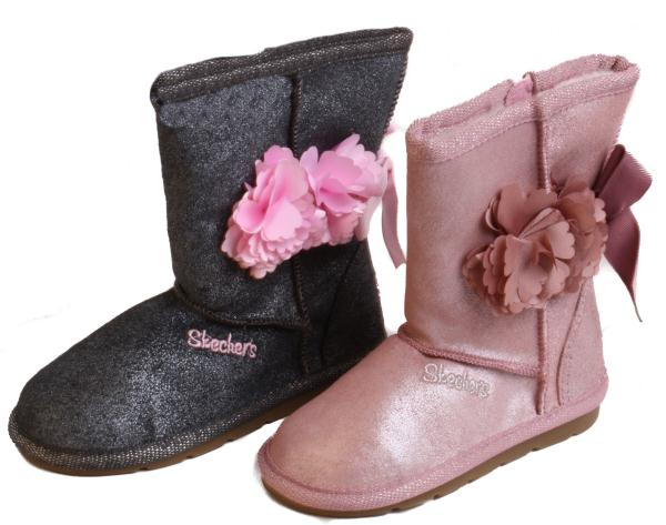 Skechers-Cuddlicious-Lil-Blossom-Toddler-Girls-Rose-or-Black-Pink-Slip-On-Boots