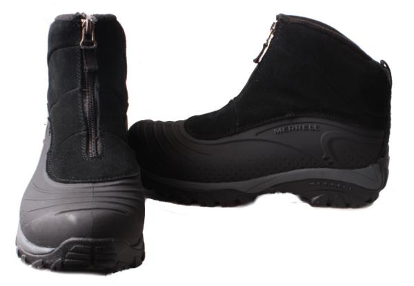 Merrell-Ice-Flow-Pull-On-Mens-Black-Suede-Leather-Winter-Boots