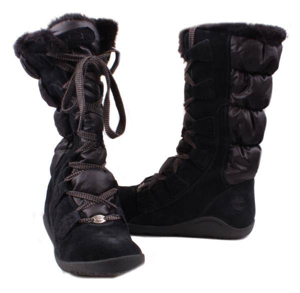 Ladies Black Leather Winter Boots | Homewood Mountain Ski Resort