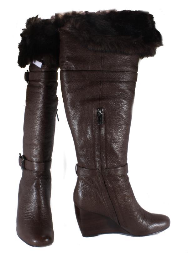 Michael-by-Michael-Kors-Womens-Lara-Wedge-Mocha-Leather-Knee-High-Boots-Medium