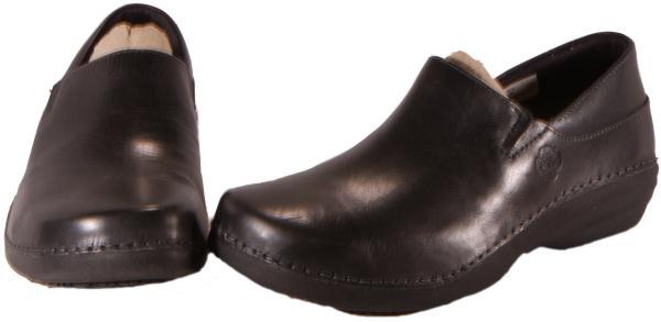 Timberland-Black-Professional-Leather-Slip-On-Work-Clogs-Womens-Medium-87588