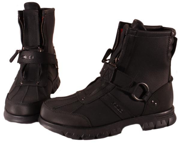 Polo Ralph Lauren Conquest Hi II Black Leather Winter