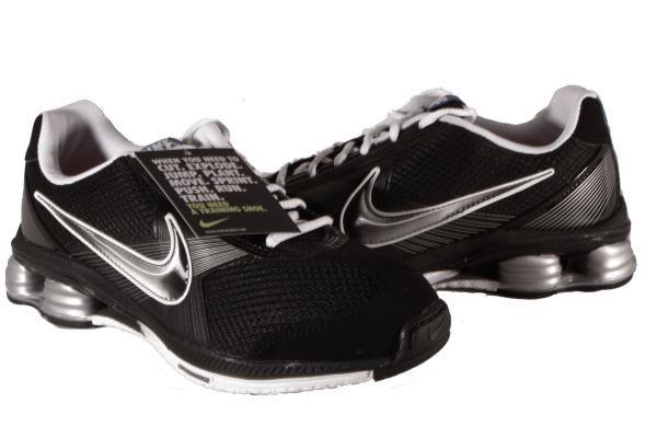 Nike-Black-White-Silver-Shox-Fly-Zipsister-Sneakers-Womens-Shoes-Medium-Width