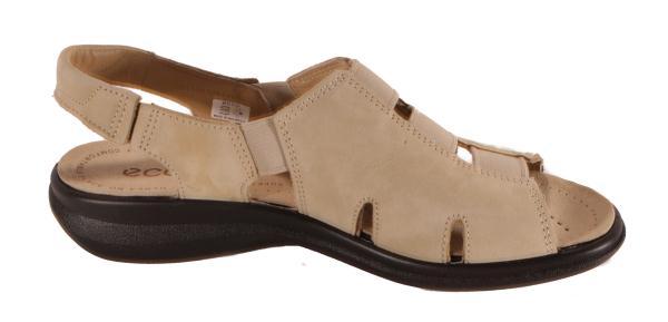 ecco Breeze Sand or Black Elastic Sandals Womens Shoes Medium Width