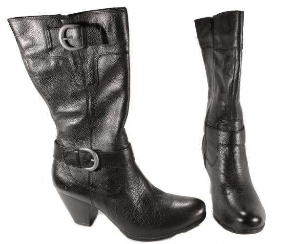 boc born womens adelaide black leather mid calf fashion