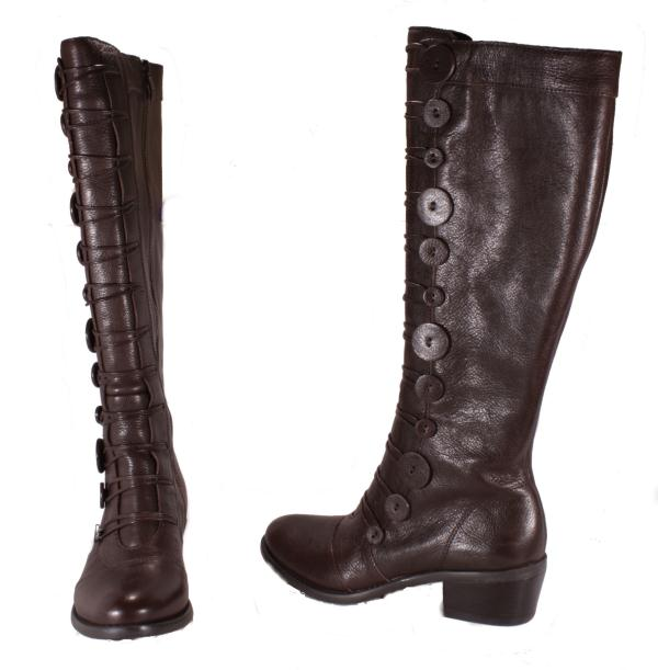 Vince-Camuto-Beaus-Womens-Knee-High-Chocolate-Butter-Leather-Boots-Medium-Width