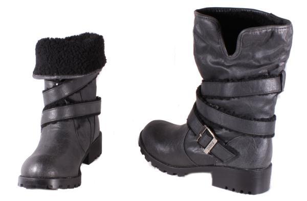 Dirty-Laundry-Teela-Vintage-Work-Boots-Black-Womens-Medium-Width