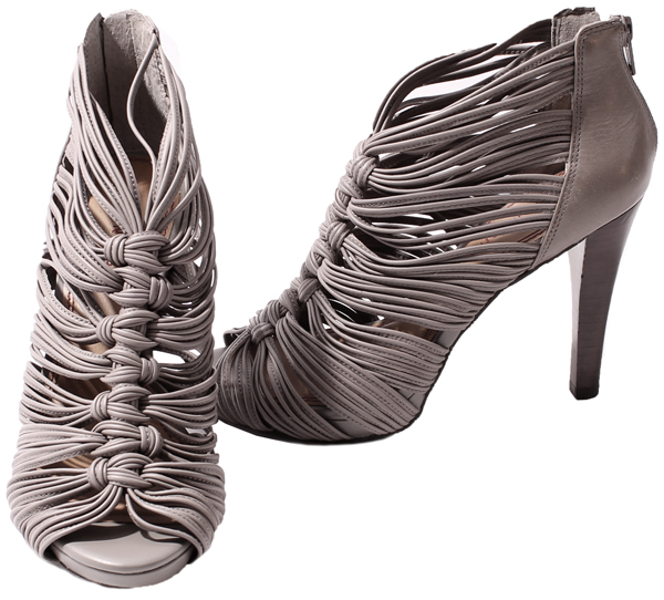 Details about Gianni Bini Womens Shoes Grey Tatum Strappy Heels