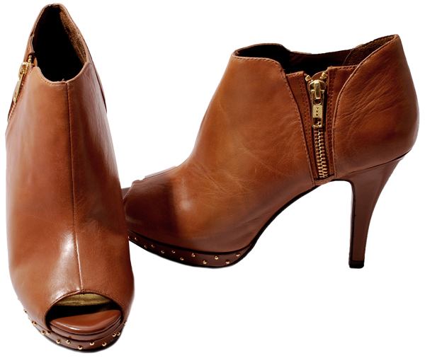 reba womens shoes leather peep toe ankle boots ebay