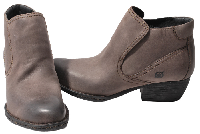 Elegant Jessica Simpson Olivie Women Leather Gray Ankle Boot Boots