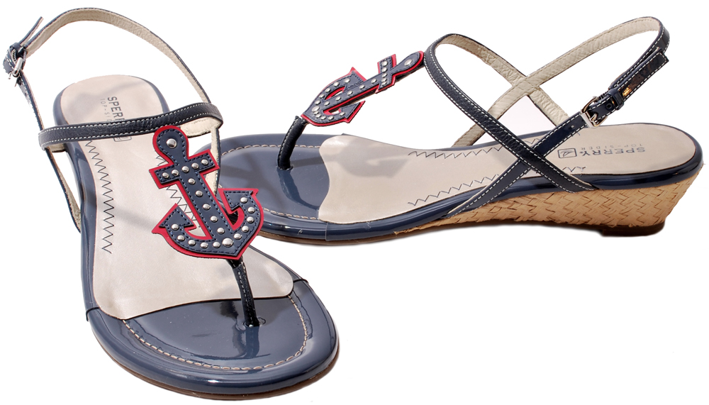 Sperry-Top-Sider-Womens-Shoes-Brown-Navy-Yellow-Delray-Wedge-Heel