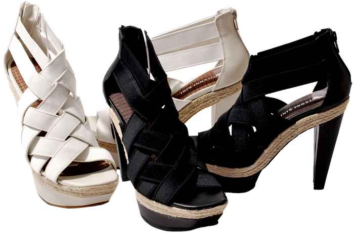 Details about Gianni Bini Womens Shoes Black or Rice Cara Platform