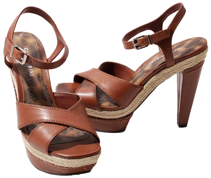 gianni bini papaya or black leather victory platform heels