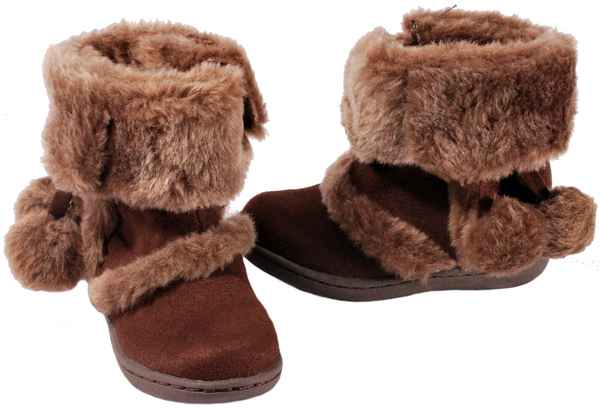 South-Pole-Infant-Toddler-039-s-Shoes-Crib-II-TD-Brown-Faux-Fur-Boots